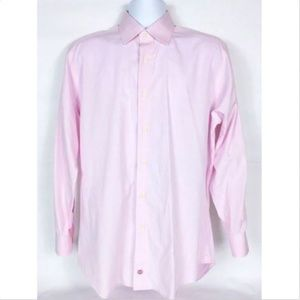 David Donahue Men's Dress Shirt 16 34/35 Pink